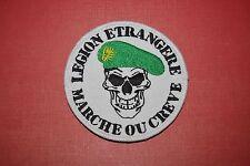 Insigne militaire patch armée écusson Légion étrangère tête de mort Airsoft