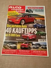 Auto Motor & Sport Juli 2020 Magazin Mazda BMW Ford Puma Tesla Mini ungelesen