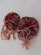 2 x Persian Paisley Art Silk Termeh Handmade Jewlery Coin Gift Stash Trinket Bag