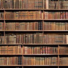 5m Vintage Biblioteca Libros Digital Impreso Diseño Cortina Tapicería Tela