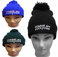 Beanie Hat Mens Ladies Womens Slouch Winter Woolly Ski Knitted Turn Up Pom Warm
