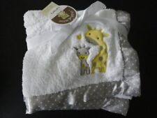 NWT Carter's Child of Mine Giraffe Unisex Plush White Blanket Satin NEW