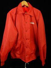 Vintage Pla-Jac Red Button Down Jacket Size 48-XL-50; Grand Oldsmobile; USA