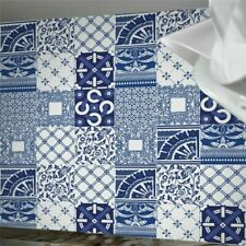 10pcs Navy Blue Moroccan Self-adhesive Bathroom Kitchen Wall Floor Tile Sticker