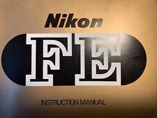 Instruction Manual NIKON FE