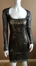 emilio pucci dress, Black And Gold Cocktail Dress 42