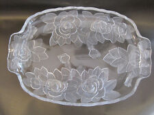 Oblong Glass dished Tray With Handles ... like new 39cm long, 27cm wide REDUCED