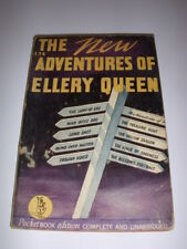THE NEW ADVENTURES OF ELLERY QUEEN, POCKETBOOK #134, 9TH PRINT, 1943, PB!