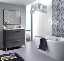 Baltic Bathroom Vanity Wash Basin Base Unit With Sink & Mirror In Ash Grey