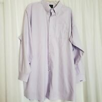 Jos. A Bank Lavender Checkers Button Shirt Travelers Collection 19-36 / 2XLT