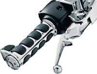 NEW Kuryakyn 6228 Premium ISO-Grips with Chrome Accent Rings with Throttle Boss