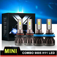 4 x Combo Led Headlight Bulbs 9005 H11 High Low Beam 8000K for Chevy Tahoe 15-19 (Fits: Acura)