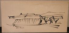 """Dessin  Encre ROLAND BOSQUIN 1922 """"Paysage"""" RB1"""