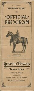 1940 - 66th Kentucky Derby program in Excellent Condition - GALLAHADION