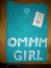 """NEW LIFE IS GOOD  WOMEN'S XLG TEE SHIRT """"OMMM GIRL""""  SMOOTH TEE W/SCOOP NECK"""