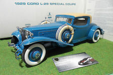 CORD L-29 SPECIAL COUPE 1/16 no 1/18 DANBURY MINT voiture miniature d collection