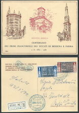 1952 ITALIA CARTOLINA MAXIMUN FDC FRANCOBOLLI MODENA E PARMA - X2-2