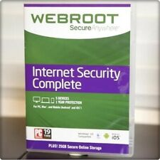 Webroot SecureAnywhere Internet Security COMPLETE 2020, 5 Devices 1Year DOWNLOAD