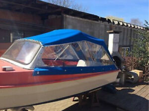 Cabrioverdeck, Klappverdeck, Verdeck, Sonnensegel für Motorboot Ibis 2 & 3