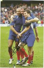 RUGBY  autographCHRISTOPHE DOMINICIfeuille 19X19 cm  signed AUSTRALIE