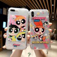 Soft Cartoon Powerpuff Girls Phone Case Cover For iPhone X XS Max XR 6s 7 8 Plus