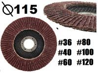 """115mm 4.5"""" FLAP DISCS SANDING DISC Grit 36 40 60 80 100 120Angle Grinder"""