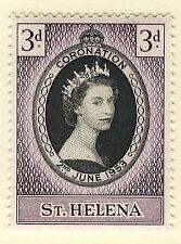 ST HELENA 1953 CORONATION BLOCK OF 4 MNH
