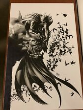 Mike Deodato Batman On Gargoyle Original 11 X 17 Cover Quality Art