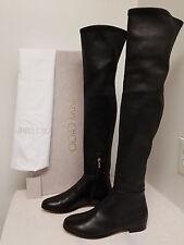 Jimmy Choo Myren Leather Over-the-Knee Boot, Black Original:$1550.00 Size - 39/9