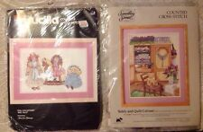 New listing 2 Counted Cross Stitch Kits, Bucilla Dolls And Something Special Teddy