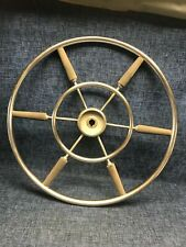 Authentic 22 inch Stainless Steel Ship's Boat Wheel Destroyer Type