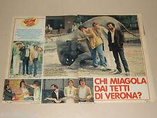 GATTI DI VICOLO MIRACOLI clipping articolo fotografia 1983 AT25 TETTI VERONA