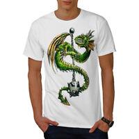 Wellcoda Dragon Mace Cool Mens T-shirt, Scary Graphic Design Printed Tee