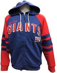 G-III Sports New York Giants Men's Stadium Full Zip Hoody Sweatshirt