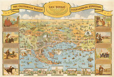 Mid-century San Diego California Pacific International Exposition Pictorial Map