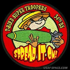 USAF 34th BOMB SQUADRON -T-BIRD SUPER TROOPERS -Ellsworth AFB - ORIGINAL PATCH