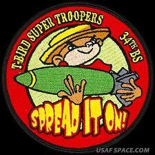 USAF 34th BOMB SQUADRON -T-BIRD SUPER TROOPERS -Ellsworth AFB - ORIGINAL PATCH