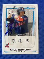 2011 Bowman Chun-Hsiu Chen #BP26 Auto Signed Autograph Indians