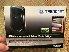 TRENDnet N300 4-Port Wireless Media Bridge, TEW-640MB