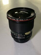 Canon FD 24mm F1.4 L Series Ultra Wide Angle Lens in Excellent Condition