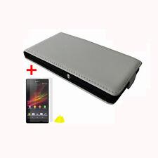 Bolso piel sintética Sony Ericsson Xperia Z c6603 l36h estuche, funda, funda protectora, móvil, protección