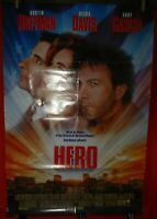 One Sheet double sided Movie Poster for Hero, 1992, Dustin Hoffman, Geena Davis