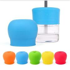 Silicone Sippy Cup Lid Straw Spill-Proof Cup Cover for Water Cup Baby Toddler JJ