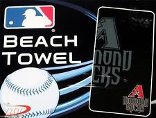 "ARIZONA DIAMONDBACKS MLB Baseball Team Sport Black Cotton BEACH TOWEL 30"" x 60"""