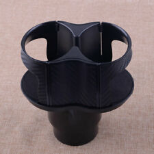 Car Water Cup Holder Cover Insert Carbon Fiber Center Console Drinking Bottle