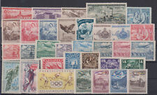 Czechoslovakia sport,airplanes,factory 33 stamps 1946-1959 MNH **
