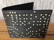 PAUL SMITH DOMINO PRINT CALF LEATHER BILLFOLD WALLET MADE IN ITALY