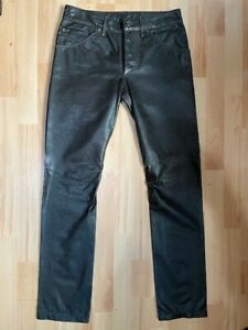 Diesel Leather Trousers - 30W 32L - Chocolate Brown. New.