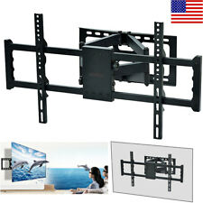 "Adjustable TV Wall Mount Bracket Full Motion Double Arm for 30-85"" TV & Monitor"