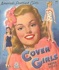VINTAGE UNCUT 1944 COVER GIRLS PAPER DOLL Merrill~ORG SZ~LASR REPRODUCTION~LO PR